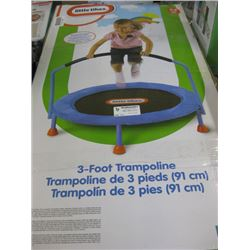 LITTLE TIKES - 3 FOOT TRAMPOLINE