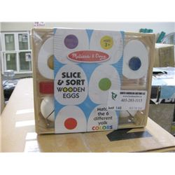MELISSA & DOUG - SLICE & SORT WOODEN EGGS
