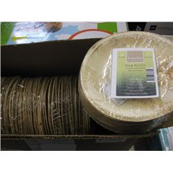 "CATER ECO - 7"" PALM PLATES 4x25 PACK"