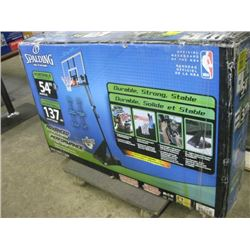 SPALDING 75746CA 10ft Tall 54 inch PORTABLE BASKETBALL SYSTEM