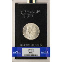 1880-CC $1 Morgan Silver Dollar Coin GSA Hoard Uncirculated NGC MS62