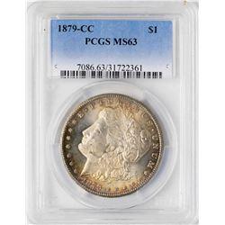 1879-CC $1 Morgan Silver Dollar Coin PCGS MS63 Nice Reverse Toning
