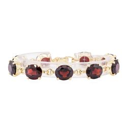 14KT Yellow Gold 49.00 ctw Pyrope Garnet Bracelet