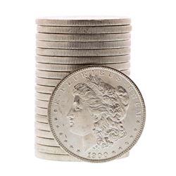 Roll of (20) Brilliant Uncirculated 1900 $1 Morgan Silver Dollar Coins