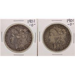 Lot of (2) 1901-O $1 Morgan Silver Dollar Coins