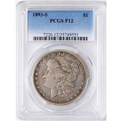 1893-S $1 Morgan Silver Dollar Coin PCGS F12