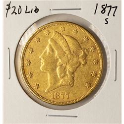 1877-S $20 Liberty Head Double Eagle Gold Coin