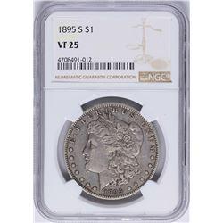 1895-S $1 Morgan Silver Dollar Coin NGC VF25