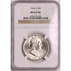 1954-D Franklin Half Dollar Coin NGC MS64FBL