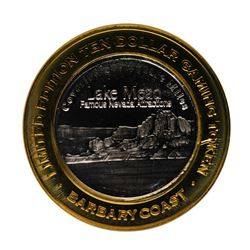 .999 Fine Silver Barbary Coast Las Vegas, Nevada $10 Limited Edition Gaming Toke