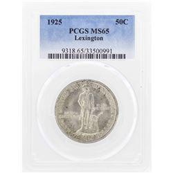 1925 Lexington-Concord Sesquicentennial Commemorative Half Dollar Coin PCGS MS65