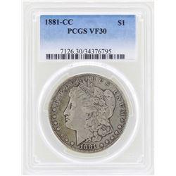 1881-CC $1 Morgan Silver Dollar Coin PCGS VF30