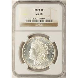 1880-S $1 Morgan Silver Dollar Coin NGC MS60