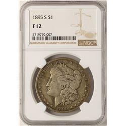1895-S $1 Morgan Silver Dollar Coin NGC F12