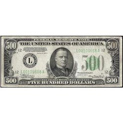 1934A $500 Federal Reserve Note San Francisco