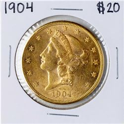 1904 $20 Liberty Head Double Eagle Gold Coin