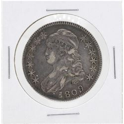 1809 Capped Bust Half Dollar Silver Coin