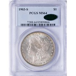 1903-S $1 Morgan Silver Dollar Coin PCGS MS64 CAC