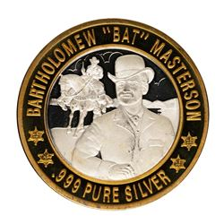.999 Fine Silver Bartholomew Bat Masterson $10 Limited Edition Gaming Token