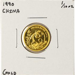 1990 China Panda 1/10 oz Gold Coin