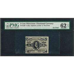March 3, 1863 5 Cents Third Issue Fractional Currency Note Fr.1239 PMG Uncircula
