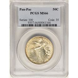 1915 Panama Pacific Exposition Commemorative Half Dollar Coin PCGS MS66