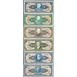 Lot of (6) Republica de Brasil Notes