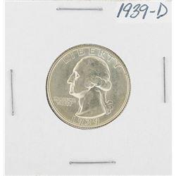 1939-D Washington Quarter Coin