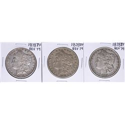 Lot of (3) 1878 7TF Reverse of 79' $1 Morgan Silver Dollar Coins