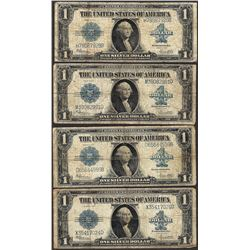 Lot of (4) 1923 $1 Silver Certificate Notes