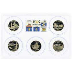 Set of 2005-S (5) Coin Proof State Quarter Coins PCGS PR69DCAM