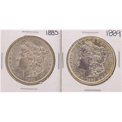 Lot of 1885 & 1889 $1 Morgan Silver Dollar Coins