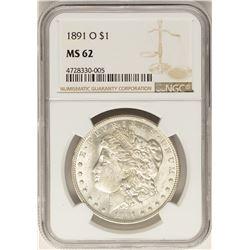 1891-O $1 Morgan Silver Dollar Coin NGC MS62
