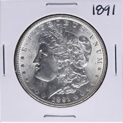 1891 $1 Morgan Silver Dollar Coin