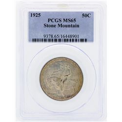 1925 Stone Mountain Commemorative Half Dollar Coin PCGS MS65
