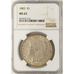 1883 $1 Morgan Silver Dollar Coin NGC MS63