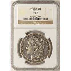 1900-O $1 Morgan Silver Dollar Coin NGC F12