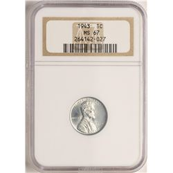 1943 Lincoln Steel Cent Coin NGC MS67