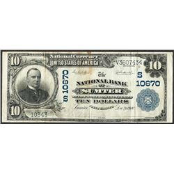 1902 $10 The NB of Sumter, SC CH# 10670 National Currency Note