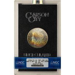 1880/79-CC Rev. of 78 $1 Morgan Silver Dollar Coin GSA NGC MS65 STAR Rainbow Ton