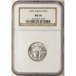 2007 $25 Platinum American Eagle Coin NGC MS70