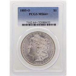1885-O $1 Morgan Silver Dollar Coin PCGS MS64+