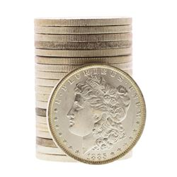 Roll of (20) Brilliant Uncirculated 1885-O $1 Morgan Silver Dollar Coins