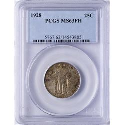 1928 Standing Liberty Quarter Coin PCGS MS63FH