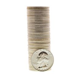 Roll of (40) Brilliant Uncirculated 1954 Washington Quarter Coins