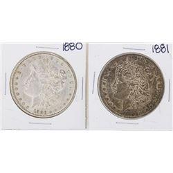 Lot of 1880-1881 $1 Morgan Silver Dollar Coins