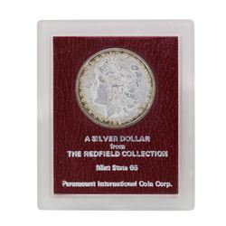 1897 $1 Morgan Silver Dollar Coin Redfield Collection MS65