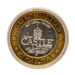.999 Fine Silver Trump's Castle Atlantic City, NJ $10 Limited Edition Gaming Tok