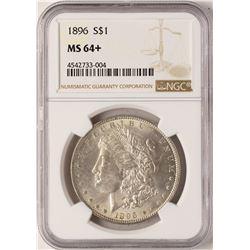 1896 $1 Morgan Silver Dollar Coin NGC MS64+