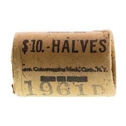 Original Bank Roll of (20) Brilliant Uncirculated 1961-D Franklin Half Dollar Co